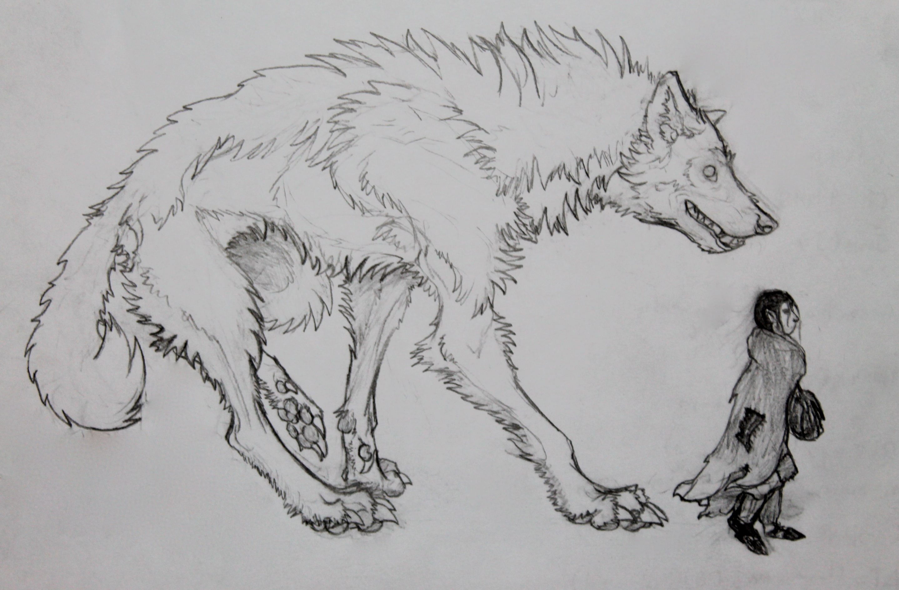 how to draw a lycan